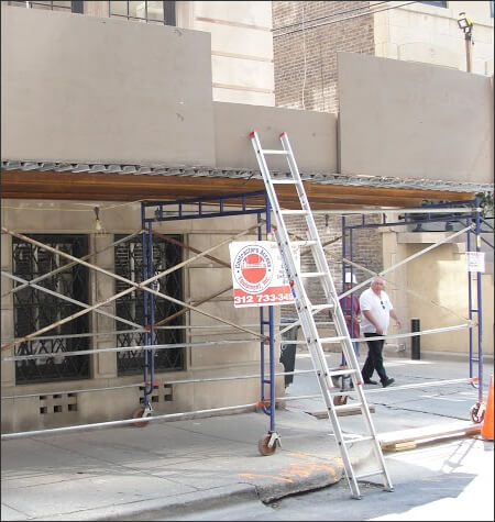 Stair Towers | Stair Tower Scaffolding Rentals | Suspended Scaffolding Installation | Texas & Austin Sidewalk Canopy Systems | Sidewalk Canopy Installation ...